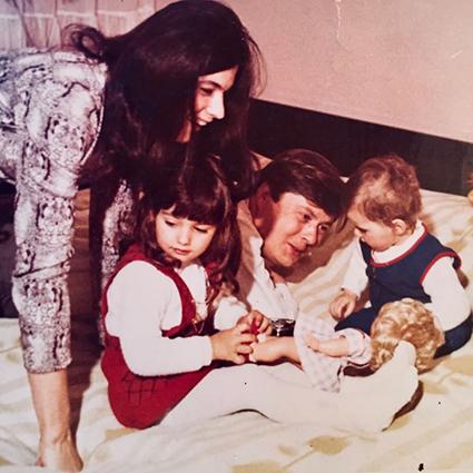 Инес Кнаусс и Мелания Трамп с родителями