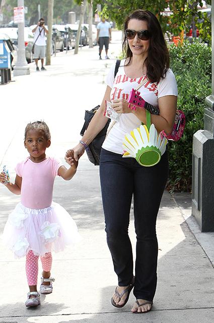 Кристин Дэвис с дочерью