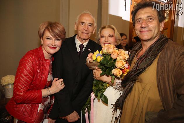 Марина Есипенко, Василий Лановой, Людмила Максакова и Евгений Князев