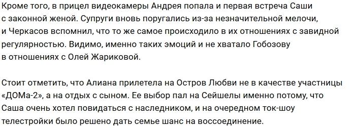 Андрей Черкасов: Гобозовы изображают «Мало половин»