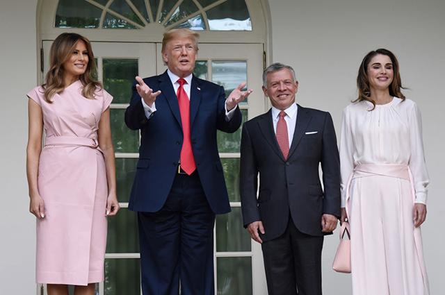 Мелания и Дональд Трамп, король Абдалла и королева Рания