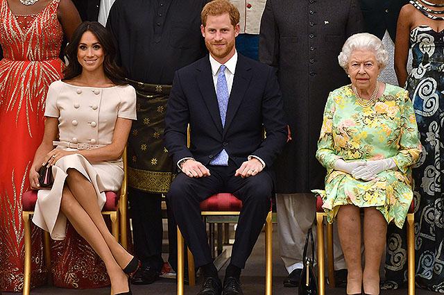 Меган Маркл, принц Гарри, королева Елизавета II
