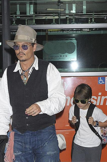 Джонни Депп с сыном