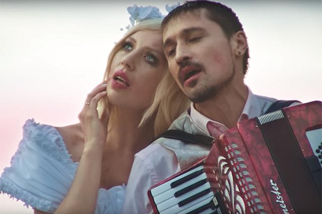 Polina и Дима Билан в клипе