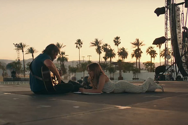 Брэдли Купер и Леди Гага в кадре из фильма