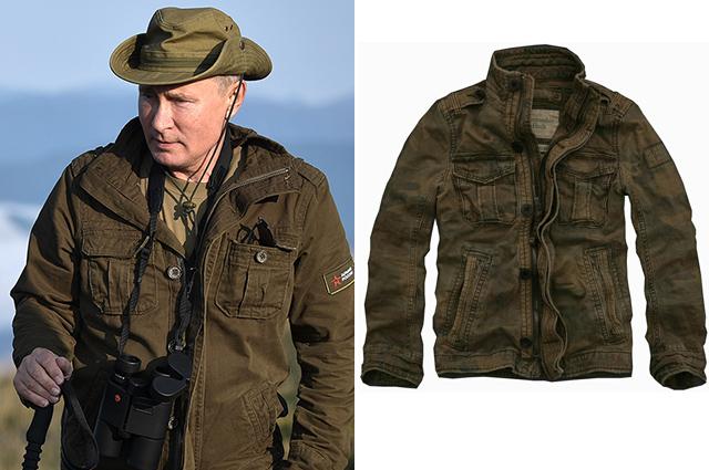 Владимир Путин на отдыхе/куртка The Abercrombie & Fitch