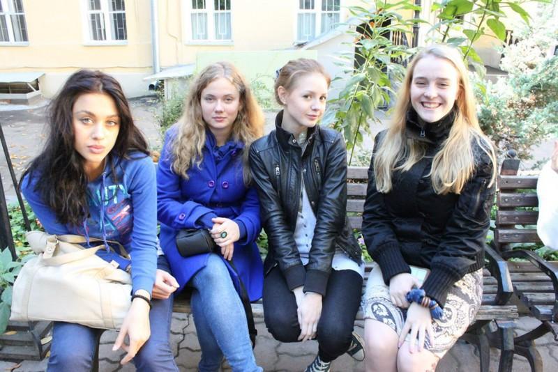 Юлия Франц с сокурсницами