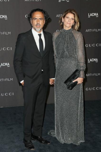 Алехандро Гонсалес Иньярриту  с супругой
