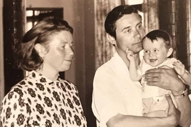 Оксана Фандера с родителями
