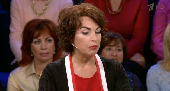 Вдова Михаила Задорнова Елена. Фото: скрин Первый канал