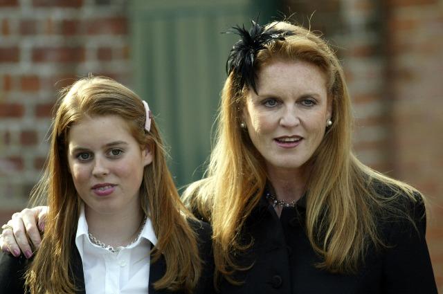Сара Фергюсон с дочкой принцессой Евгенией