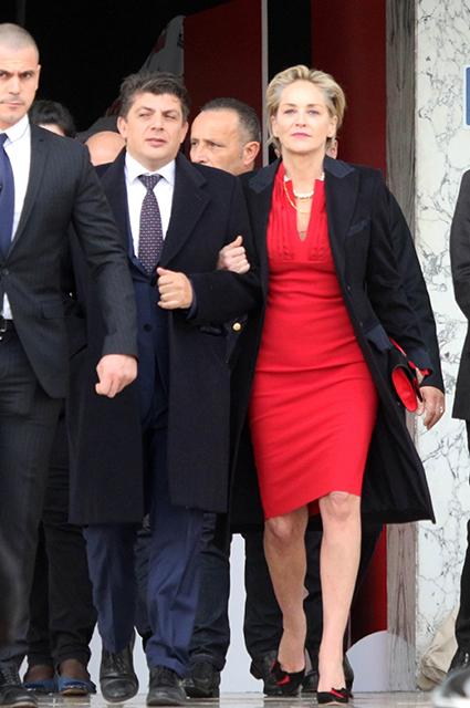 Энцо Курсион и Шэрон Стоун