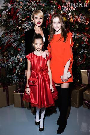 Жена Григория Лепса Анна с дочками Евой и Николь