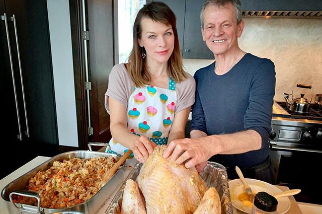 Милла Йовович с отцом