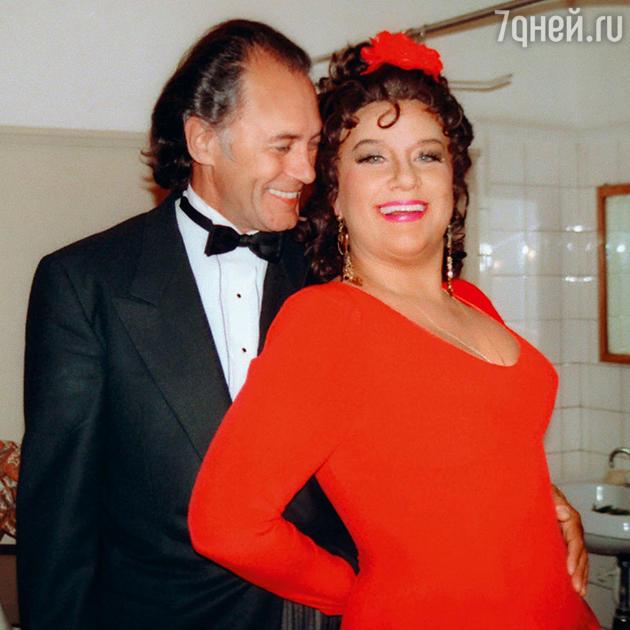 Елена Образцова с мужем Альгисом Жюрайтисом