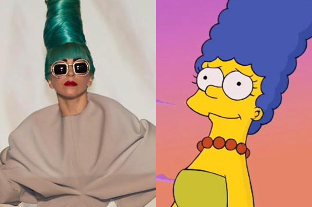 Леди Гага и Мардж Симпсон
