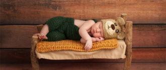 ребенок спит в кроватке красивое фото