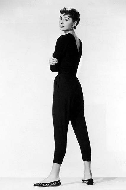 Одри Хепберн на съемках фильма