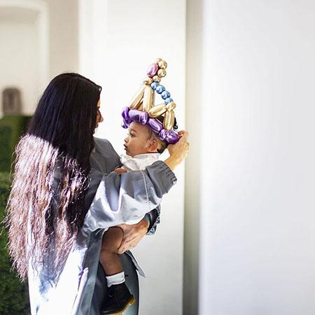 Ким Кардашьян с дочерью Чикаго