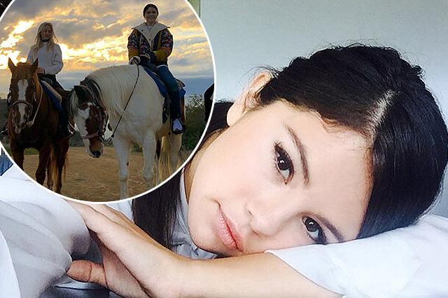 Селена Гомес восстанавливает пошатнувшееся здоровье прогулками на лошадях