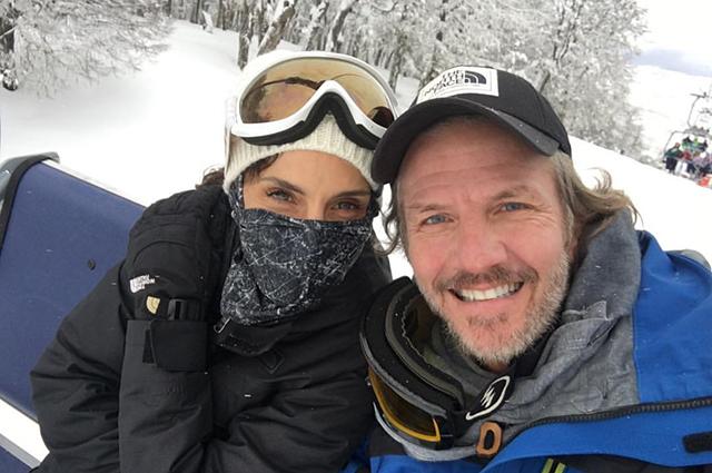 Факундо Арана с женой Марией