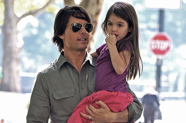 Том Круз с дочерью Сури