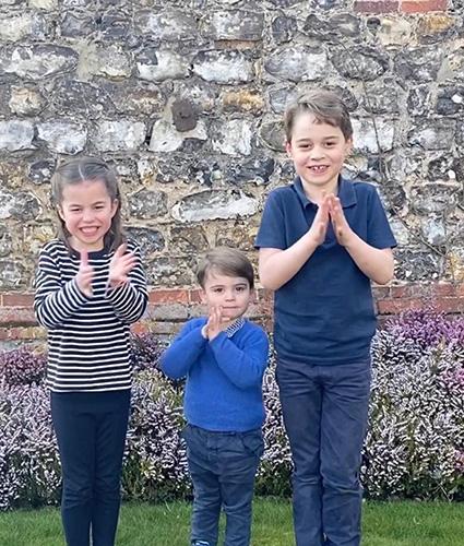 Принцесса Шарлотта, принц Луи и принц Джордж