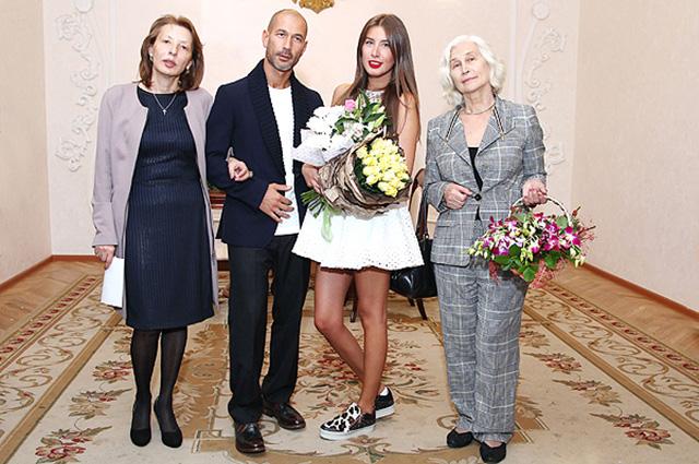 Кети Топурия и Лев Гейхман с мамами