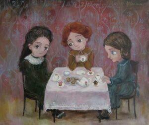 tea time 300x252 - Ангелы Нино: живопись как паломничество в детство