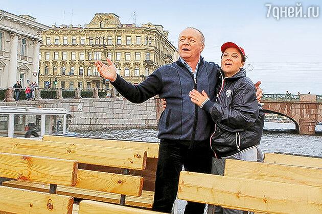 Борис Галкин с  женой Инной