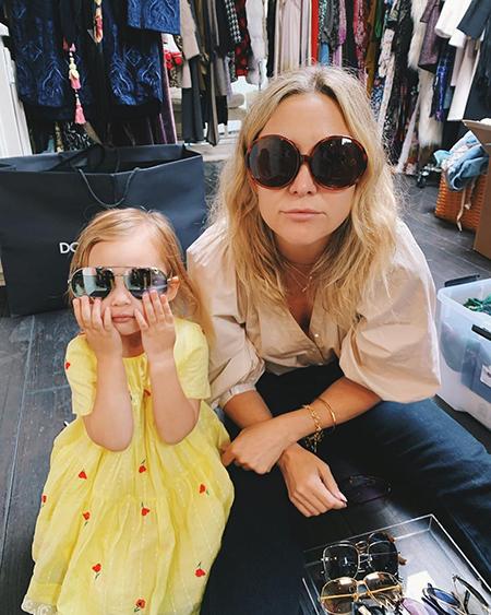 Кейт Хадсон с дочерью