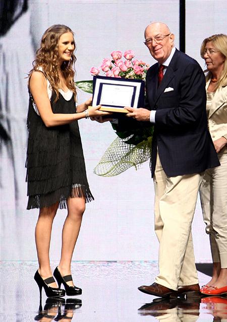 Кира Пластинина и почетный президент Национальной палаты итальянской моды Марио Бозелли