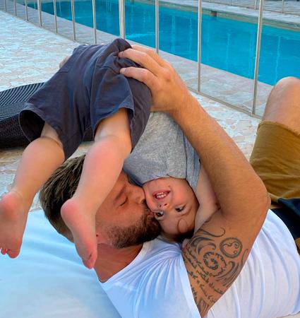 Рикки Мартин с сыном