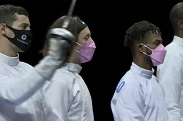 Сборная США по фехтованию: Ален Хаджич со своими коллегами по команде