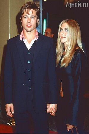 Дженнифер и Брэд вместе 1990-е