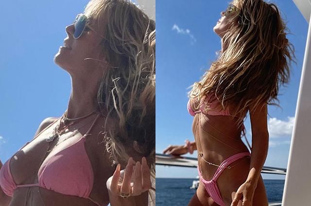 Хайди Клум поделилась новыми отпускными фотографиями в бикини