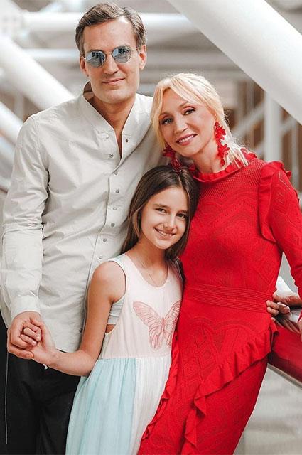 Михаил Земцов и Кристина Орбакайте с дочерью