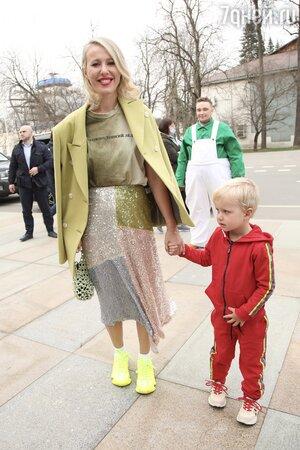 Ксения Собчак с сыном Платоном — фото
