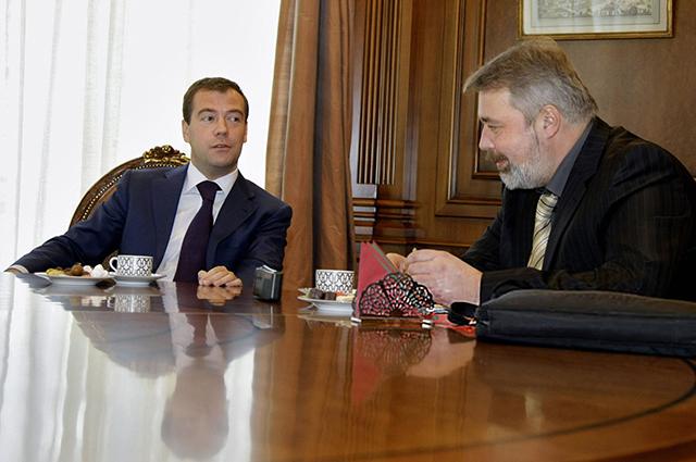 Дмитрий Медведев и Дмитрий Муратов